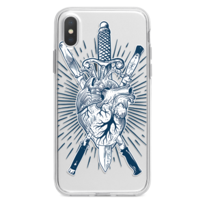 Heart and daggers iPhone Case